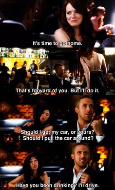 Emma Stone and Ryan Gosling in Crazy Stupid Love.