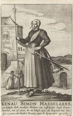 Kenau Hasselaar - Zij maakte haar naam onsterfelijk tijdens de belegering van de stad Haarlem door de Spanjaarden tijdens de jaren 1572/1573. Vanaf 1574 woonde deze bekende persoonlijkheid in Arnemuiden. Ze was daar handelaar en waagmeester