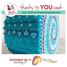 Thanks to YOU Week Giveaway No.11 is from @flarefabrics - Visit www.threadridinghood.com to enter for your chance to win!