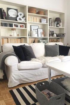 Gemütliches, Aufgeräumtes Wohnzimmer! #filzkorb #wohnzimmer Bücherregal  #ektorp #ikea Entdecke Noch