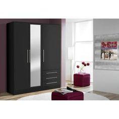 Armoire 3 portes 3 tiroirs - Armoire chambre bois ...