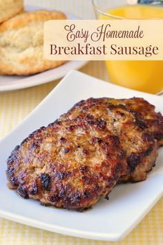Easy Homemade Breakfast Sausage - delicious, perfectly seasoned, easy to make homemade breakfast sausage patties with very little salt and no preservatives. Your family will love them. Freezes easily too!