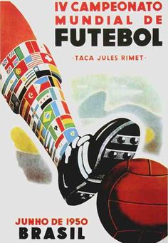1950 world cup brasil poster