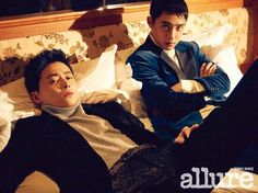 The actors of upcoming film 'Hyung' posed together for 'allure'!EXO's D.O. and Jo Jung Suk, who are playing brothers in the upcoming film, showed off … Korean Star, Korean Men, Korean Actors, Korean Dramas, Lee Dong Wook, Ji Chang Wook, Kaisoo, Kyungsoo, My Annoying Brother