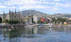 Vevey, Switzerland is between Montreux and Geneva on Lake Leman (or Lake Geneva).  Beautiful lakeside resort.