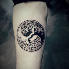 Not my design but I got to this cool blackart ying yang tree of life this…