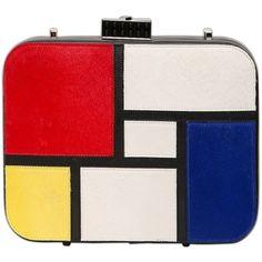 LES PETITS JOUEURS Petit Diana Mondrian Leather Bag - Multi