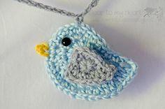 blue bird crochet  pájaro ganchillo