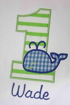 Whale Birthday Number Shirt or Onesie  by OhSewSweetEmbroidery, $19.00