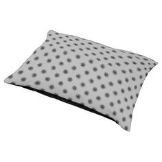 Black on Grey Sketchy Dots Pet Bed - pattern sample design template diy cyo customize