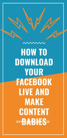 It's a great feeling. That moment you finish a Facebook Live show. But the high is short lived. It doesn't take long for your show to disappear from the news feed into the world of Facebook history. If you want to resurrect it from the dead, you will need to download your Facebook live and re-purpose it. #AmandasLiveTips #facebooklive #facebooklivemarketing #facebookvideomarketing #facebookvideotips #facebooklivetips #facebookmarketing #facebookforbusiness #downloadfacebooklive Facebook Marketing, Content Marketing, Longing For You, Facebook Features, Live Show, Facebook Video, Purpose, Blogging, About Me Blog