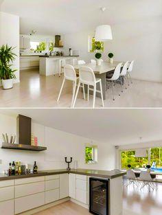 Interior design: dining room & kitchen