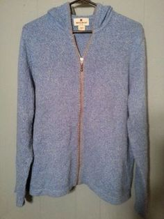 Wooldridge brand women's CLOTHED sweater hoody knit denim color in US (sells for $5)