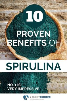 Spirulina is a type of blue-green algae that is popular as a supplement. Spirulina is incredibly nutritious, and has numerous health benefits. Learn more here: authoritynutritio. Health And Wellbeing, Health Benefits, Health Tips, Health Guru, Green Algae, Healing Herbs, Alternative Health, Healthy Alternatives, Natural Medicine