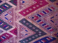 TRADITIONAL  TEXTILES IN LAOS | ... Textile from Laos Vintage Silk Textile Wall Haning, Laos, SLN01 SLN01