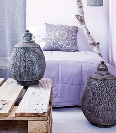 col and textures Purple Interior, Bohemian Interior, Marocco Interior, Purple Bedrooms, Inspired Homes, Trends, Soft Furnishings, Home Decor Inspiration, Decoration