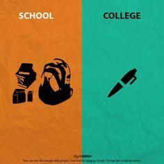 School V/s Collage life