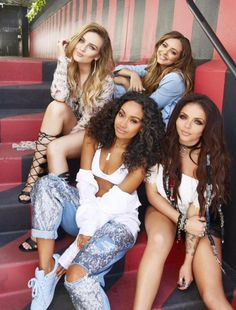 new picture from the get weird album photoshoot - little mix great all girl pop group.