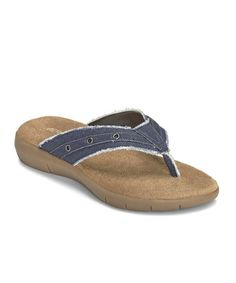 40956fe64471 Aerosoles Blue Wiptown Thong Sandal