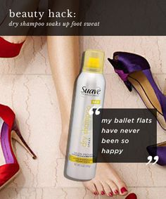 For feet that fill your ballet flats with sweat, 10 Beauty Hacks That Would Make MacGyver Proud