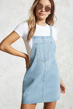 Denim Overall Mini Dress