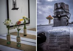 One look at this pair's food truck menu and you'll be converted to the dark (and delicious) side: a street food wedding! The gourmet sliders and fries were served in front of a chic gal…