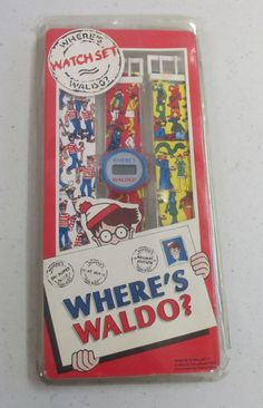 vintage wrist watch wheres waldo by OurFun on Etsy