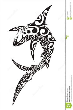 Shark Tattoo - Download From Over 50 Million High Quality Stock Photos, Images, Vectors. Sign up for FREE today. Image: 25723599