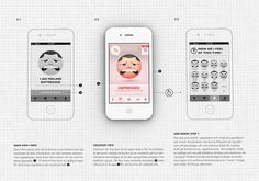 Moodswings | iPhone by Gustav Schiring, via Behance