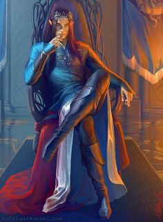 Fingolfin in a great capture by the artist  wow