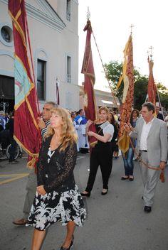 Chiusura festa patronale. Bandiere di #Stintino