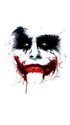 #Joker #Wallpaper #HeathLedger #Painting  My Joker painting. More at www.DejvidJones.com/paintings  Thanks for sharing!
