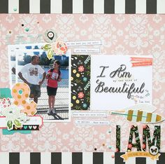My Own Kind of Beautiful - Scrapbook.com - Made with the soon to be available I am Collection by Simple Stories.