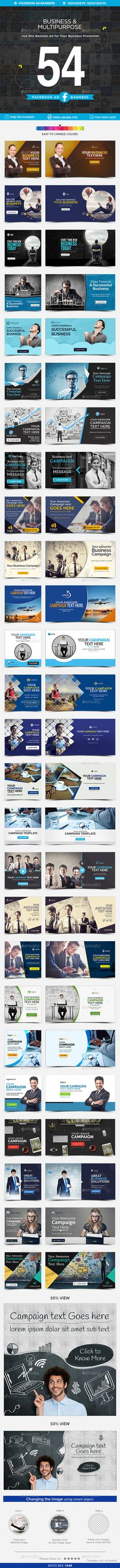 Facebook Ad Banners - 27 Designs