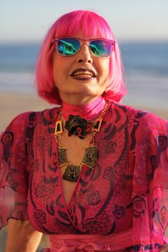"""Love it!    ADVANCED STYLE: """"Personality and Jewelry Will Conquer Everything""""- Zandra Rhodes"""