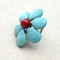 Easy Craft Design – How to Make a Turquoise Beaded Flower Ring for Summer in 10 Minutes - Panda Hall