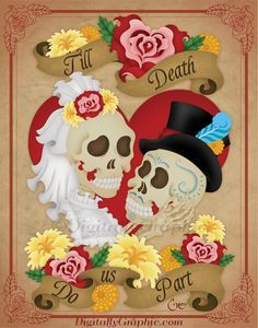 day of the dead bride and groom - Google Search