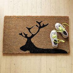 reindeer doormat from west elm $30