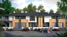 """3rd stage of Kakolowa Aleja Housing Estate in Aleksandrow Lodzki near Lodz / Trzeci etap realizacyjny osiedla """"Kąkolowa Aleja"""". Projekt wykonawczy zespołu budynków mieszkalnych jednorodzinnych w zabudowie bliźniaczej i szeregowej dotyczył dwóch kolejnych budynków, po sześć i cztery apartamenty w każdym. Budynki przeznaczone są do realizacji w 2015 roku."""