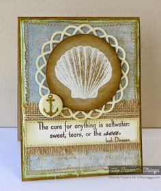 Fall Foliage, Inspired by the Sea, Dizzy Doily Die-namics, Horizontal Stitched Strips Die-namics, Pierced Circle STAX Die-namics - Melody Rupple #mftstamps