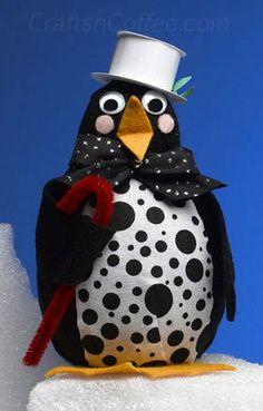 how to make Mr. Popper's penguins craft