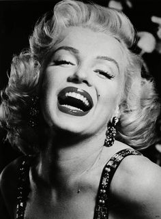 I just love her laugh, Marilyn Monroe