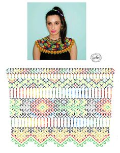 Diy Necklace Patterns, Beaded Jewelry Patterns, Beading Patterns, Beaded Crafts, Beaded Collar, Bead Crochet, Beading Tutorials, Loom Beading, Bead Weaving