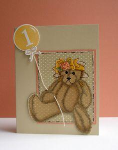 First Birthday Card...splitcoaststampers.com