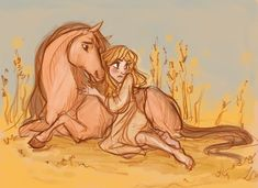 Falada and the Goose Girl....This is SO cool!!!! looks so disney!!! xD love the horse!! ♥♥♥