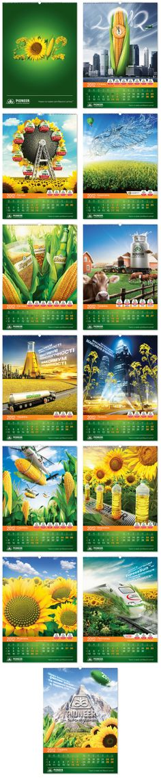 Pioneer. Corporate calendar design 2012. by Vitamin ADV, via Behance