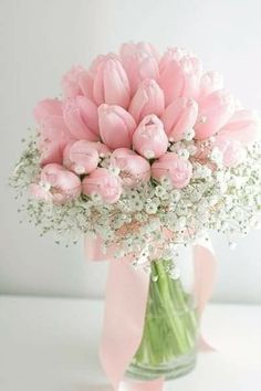 Pink Tulips, Pink Roses, Pink Flowers, Flowers Nature, Beautiful Flower Arrangements, Floral Arrangements, Simple Flowers, Beautiful Flowers, Fresh Flowers