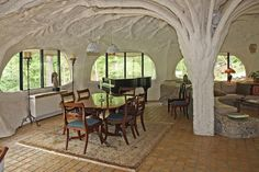 tree column in the mushroom house - Google Search