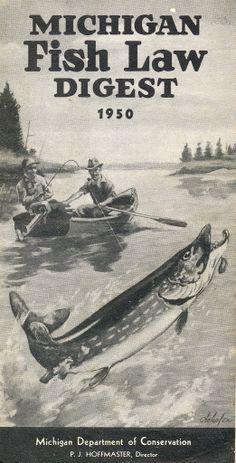 1950 Michigan Fishing License Guide