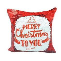 Personalized Red Sequin Cushion cover with your text or image sequin pillow personalised sequin cushion cover by funkytshirtsfactory on Etsy Sequin Pillow, Cushion Covers, Pillow Covers, Unicorn Cushion, Silhouette Cameo Tutorials, Cute Coffee Mugs, Soft Fabrics, Cushions